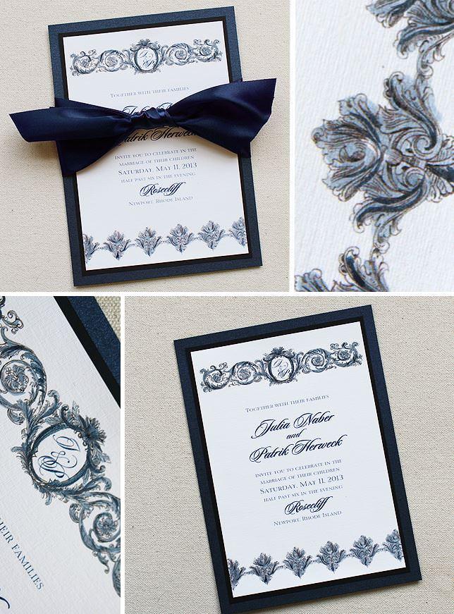 Flourish Frame Wedding Invitations