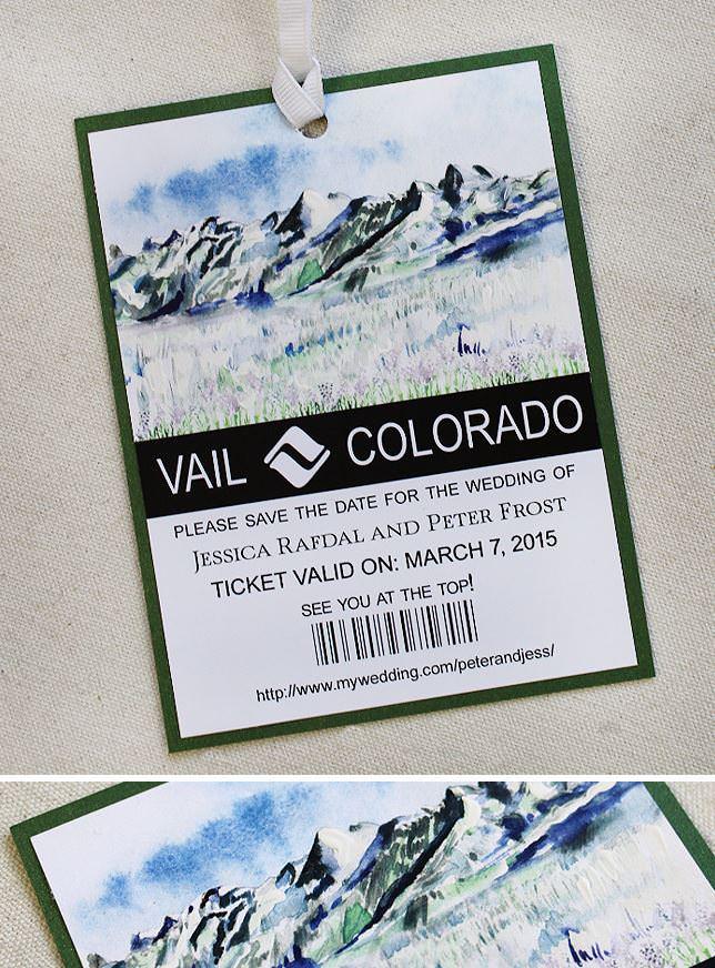 Colorado Ski Save the Date