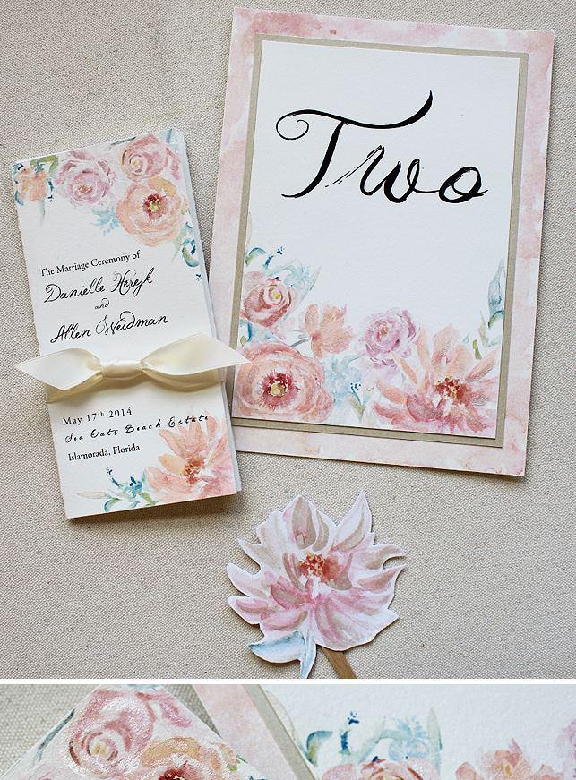 Watercolor Wedding Day Accessories