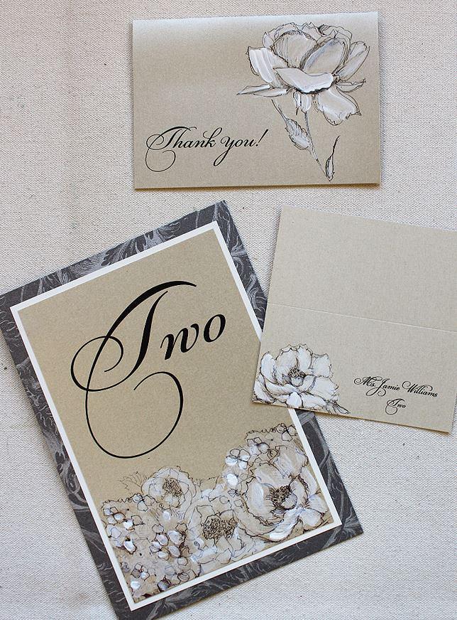 White Floral Wedding Stationery