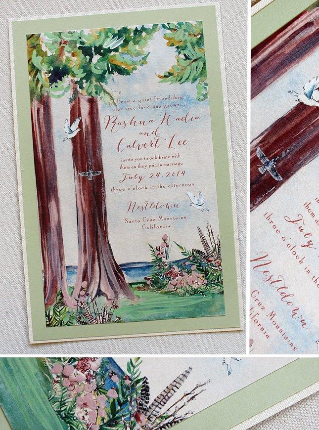 Redwood Tree Wedding Invitations