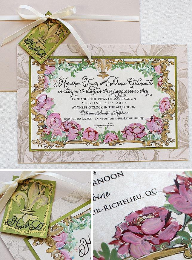 Vintage Frame Wedding Invitations