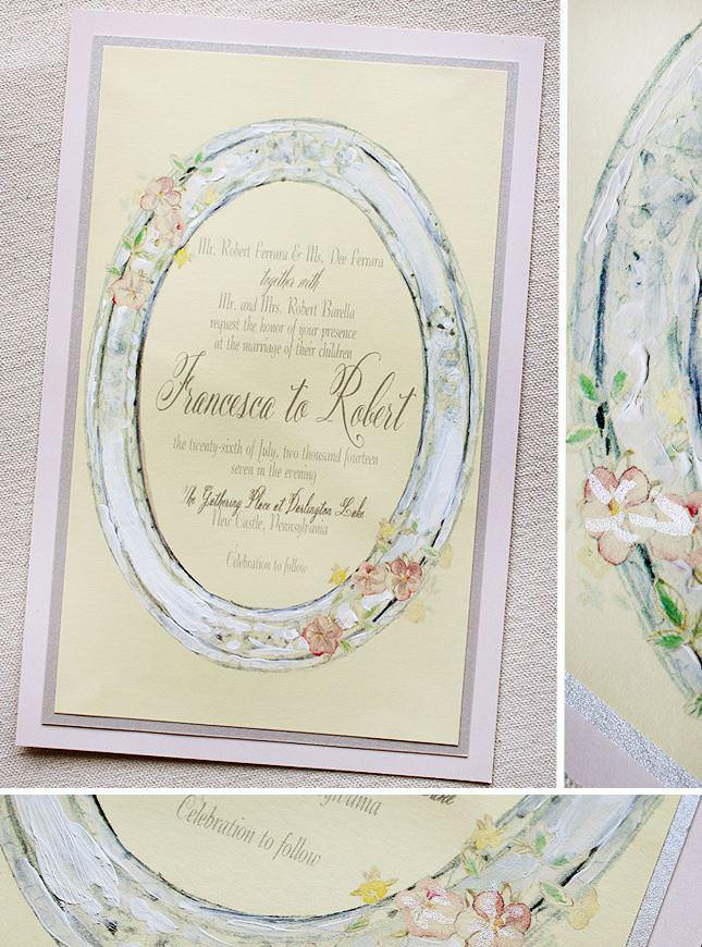 Vintage Frame Wedding Invitation