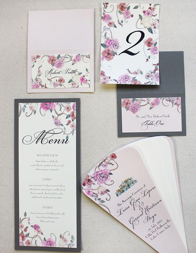 Pink Rose Wedding Day Accessories