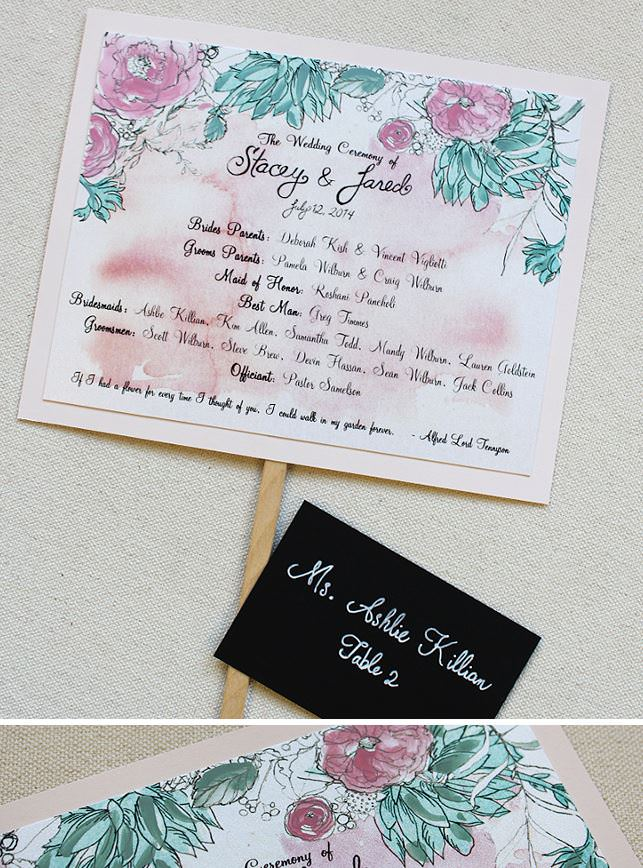 Floral and Succulent Wedding Accessories