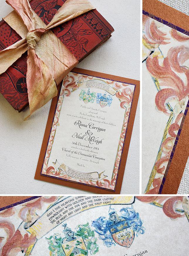 Family Crest Wedding Invitations