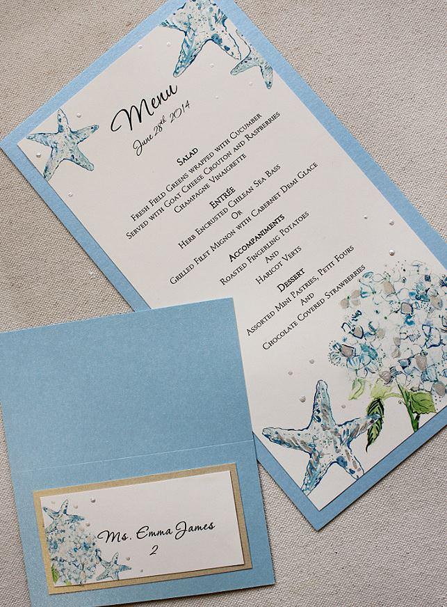 Blue Hydrangea and Starfish Wedding Accessories