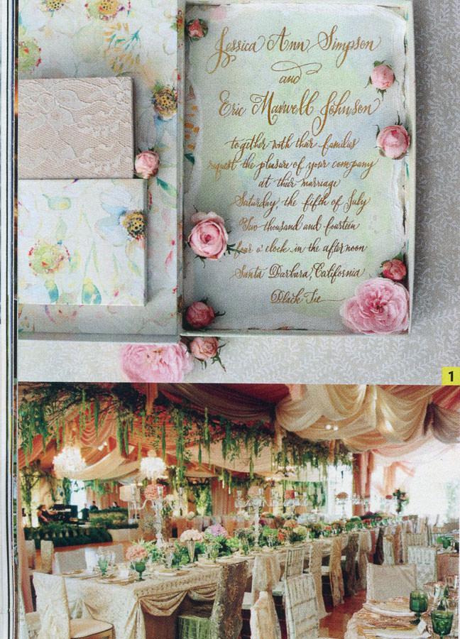 Jessica Simpson's Wedding Invitations