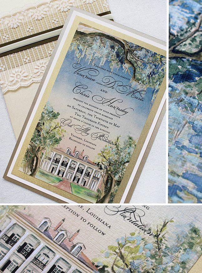 Custom Venue Wedding Invitation