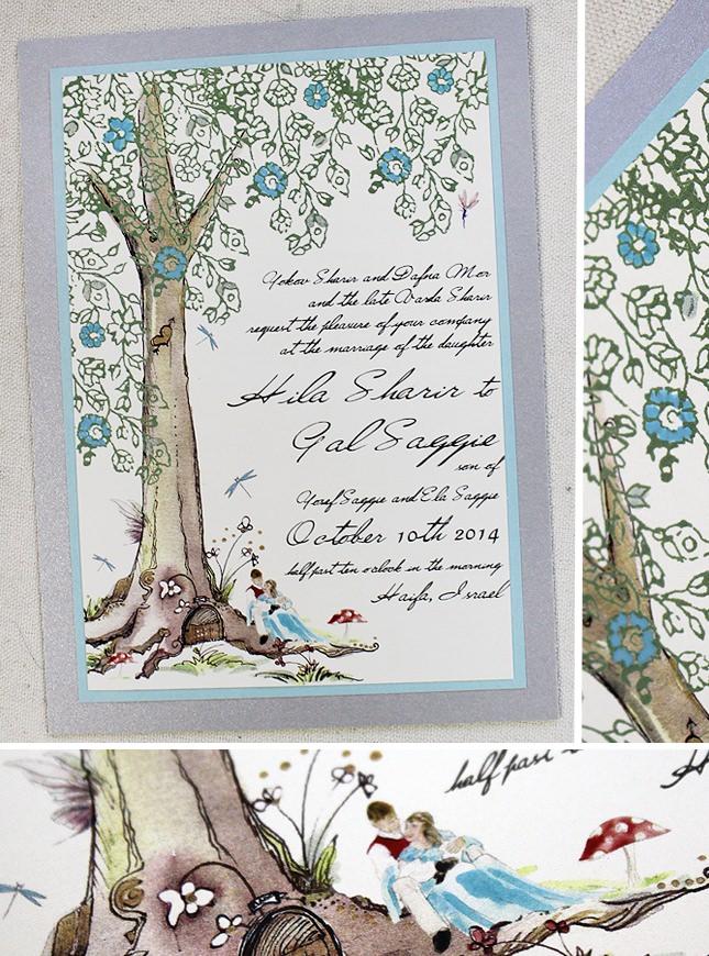 Fairy Tale Tree Wedding Invitation