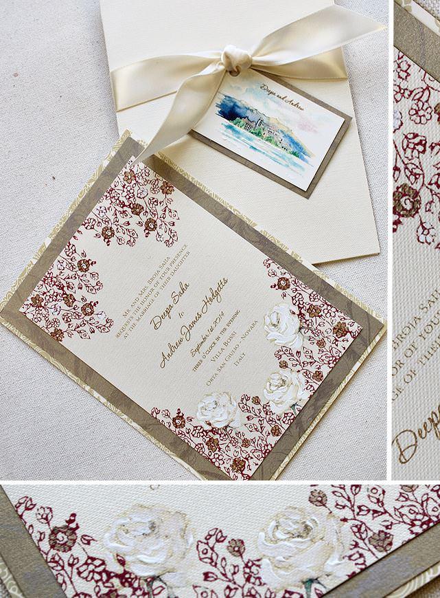 Vintage Lacy Wedding Invitations