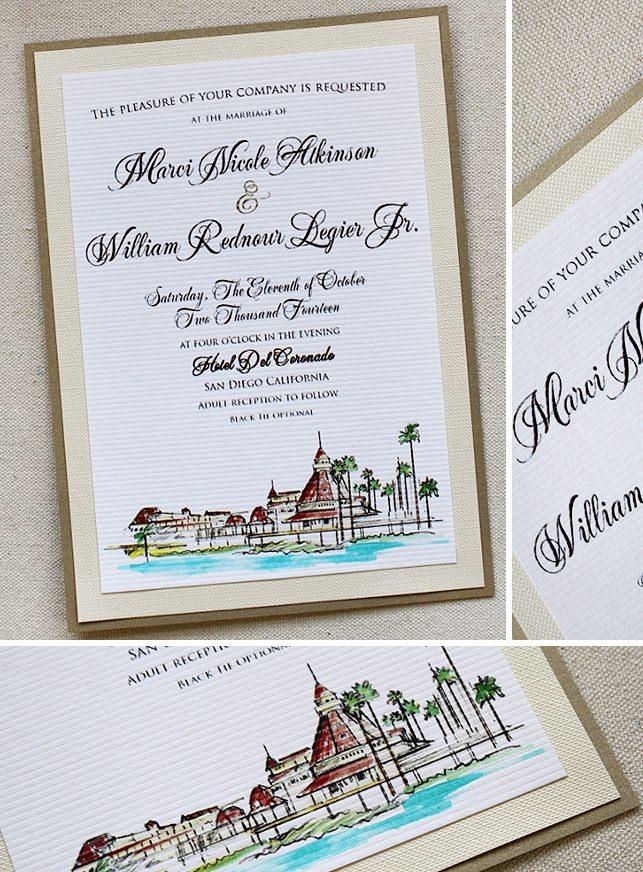 Venue Illustration Wedding Invitation