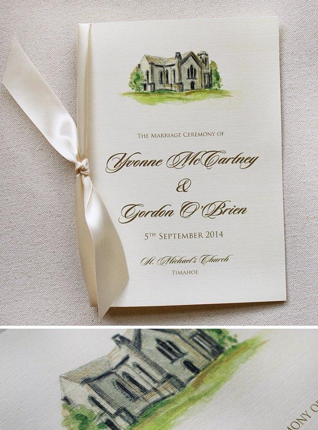 Watercolor Wedding Programs
