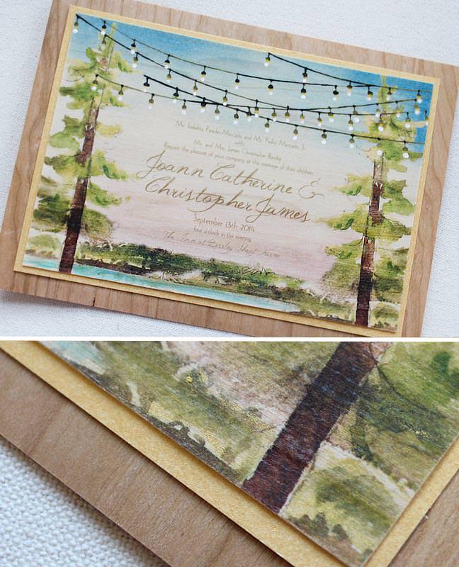 Twinkle Lights Wedding Invitation