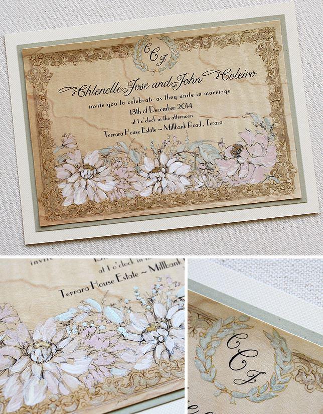 Pink Dahlia Wedding Invitations