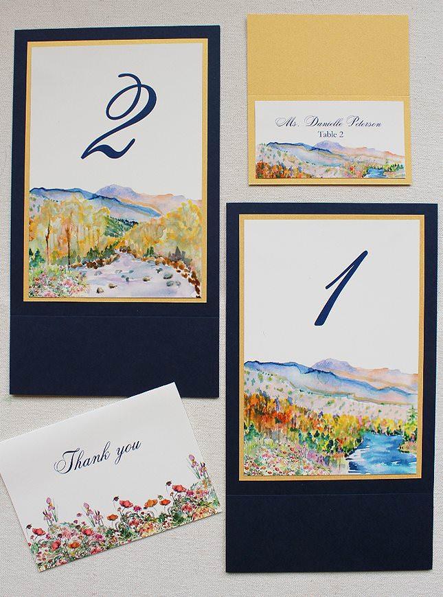 Watercolor Landscape Wedding Accessories