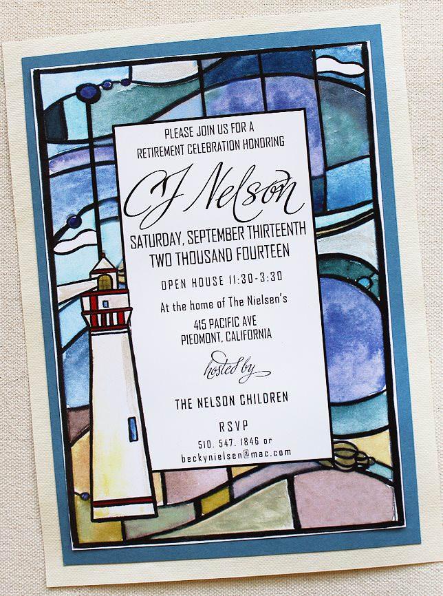 Lighthouse Invitations