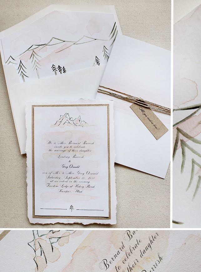 Watercolor Utah Wedding Inivitation