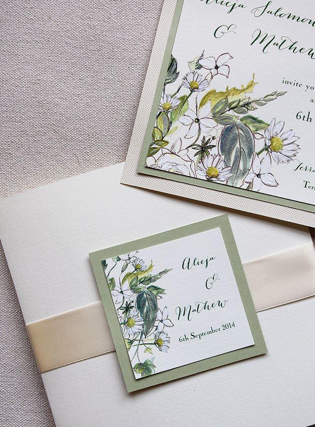 Simple Floral Wedding Invitations