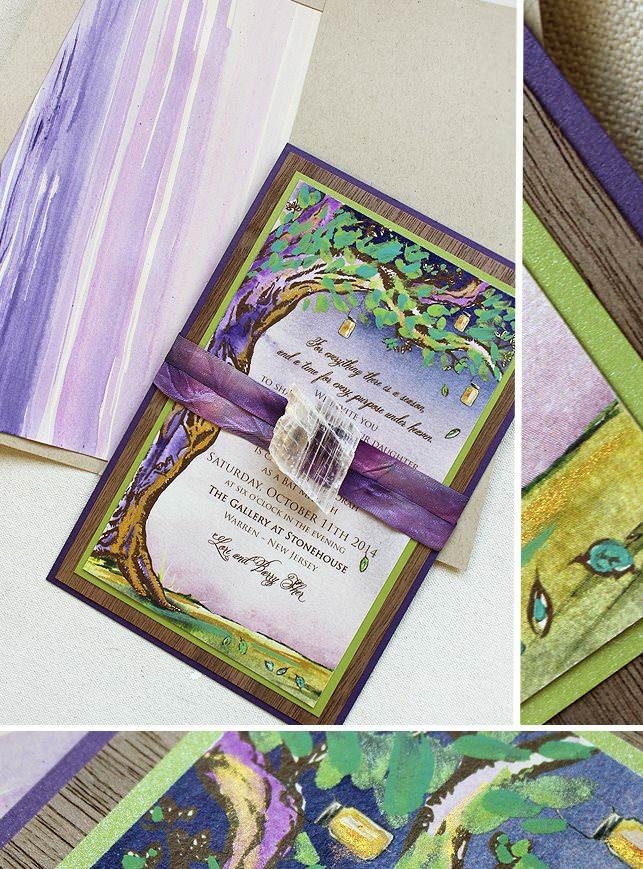Watercolor Tree Invitation