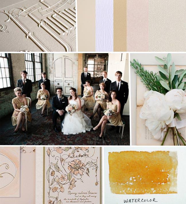 Vintage Botancial Watercolor Wedding Invitations