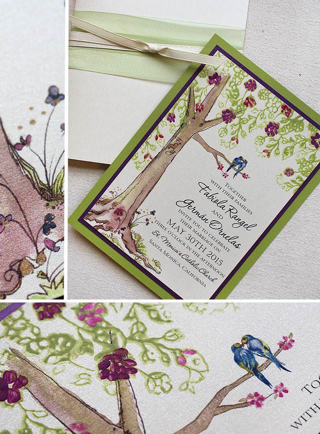 Lacy Tree Wedding Invitations