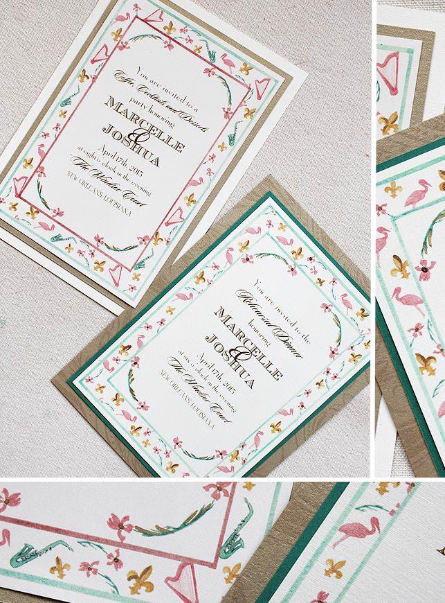 Custom Pattern Wedding Invitations