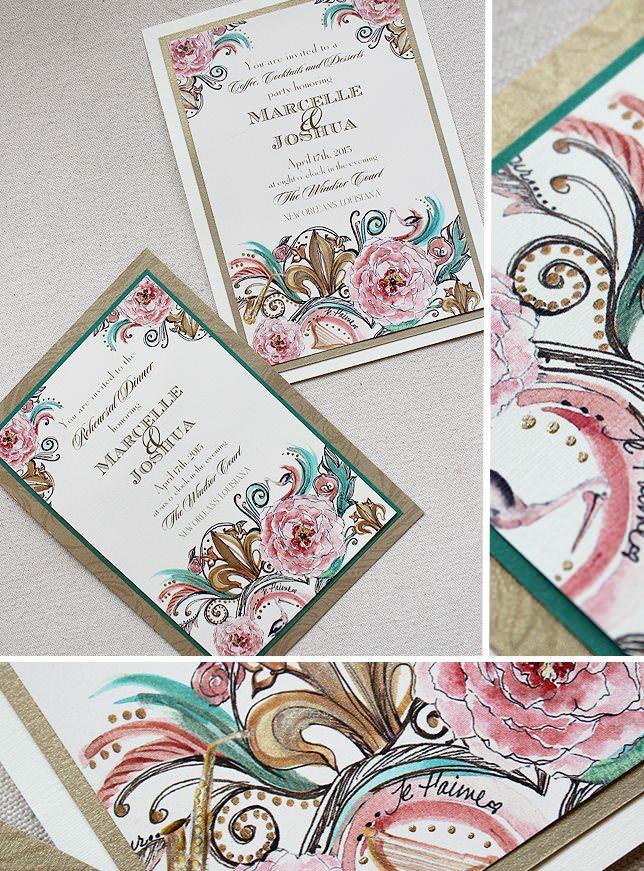 Versailles Swirl Wedding Invitations