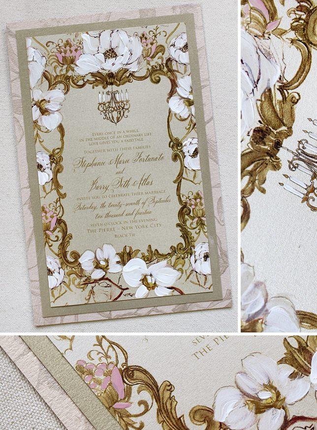 Baroque and Floral Wedding Invitation