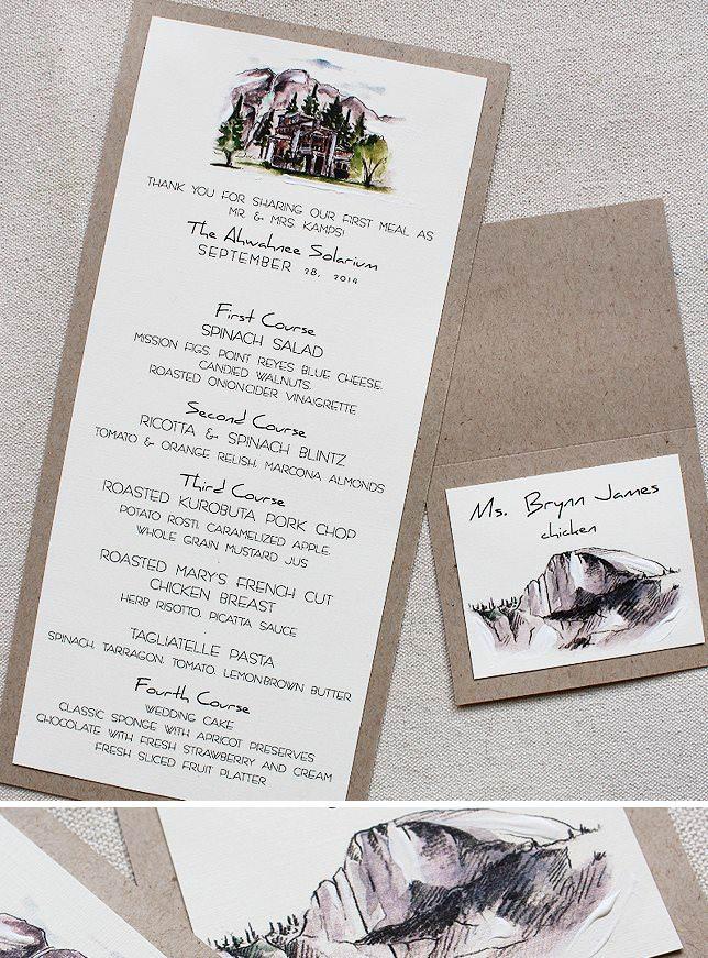 Yosemite Wedding Stationery