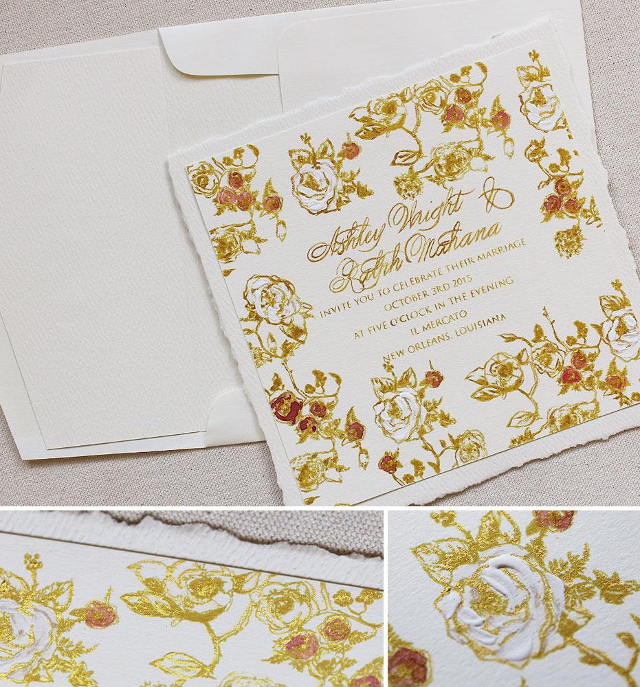 rose-pattern-wedding-invitation