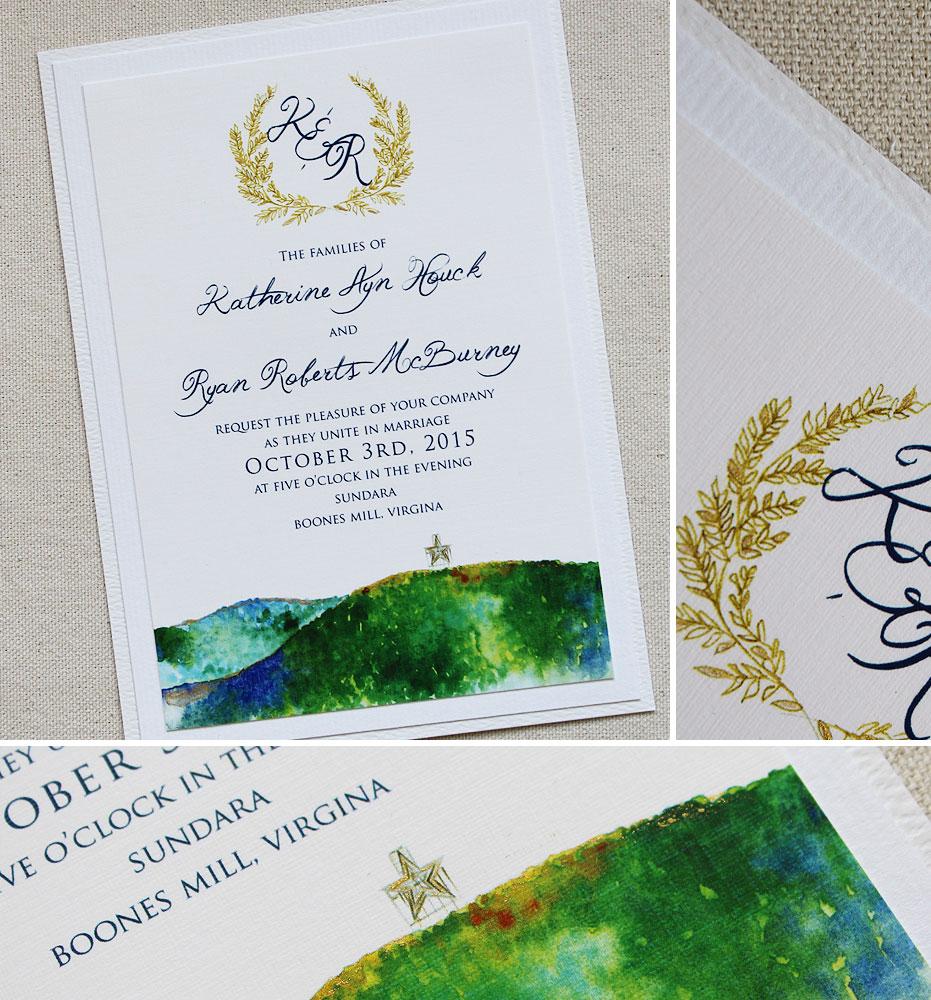 monogram-landscape-wedding-invitation