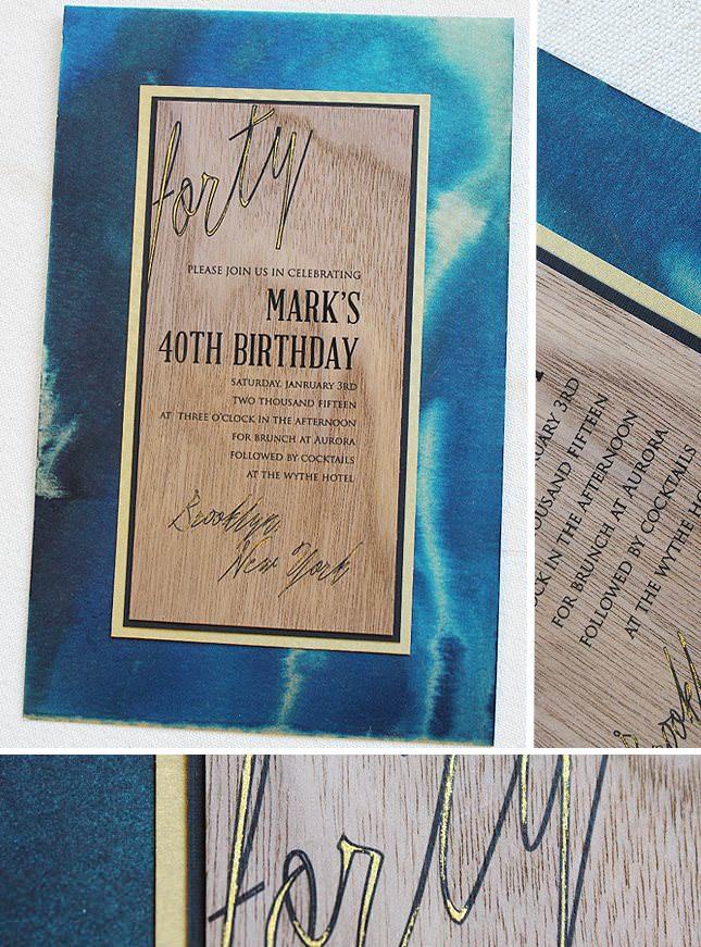 Fortieth Birthday Invitation
