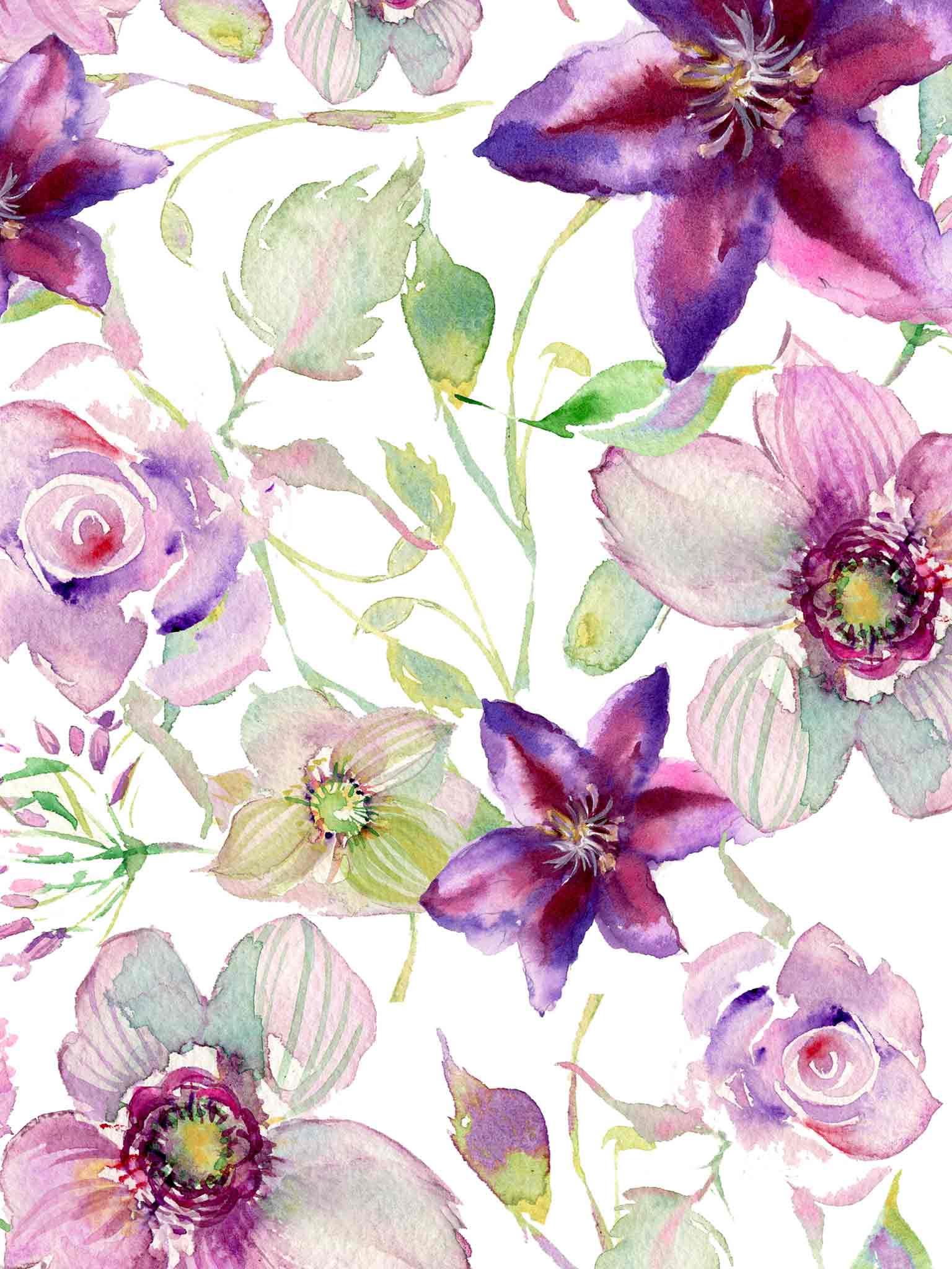 Watercolor Wallpaper And Lock Screen Downloadsmomental Designs