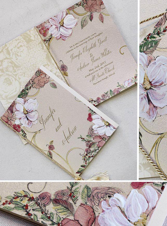 Romantic Floral Wedding Stationery