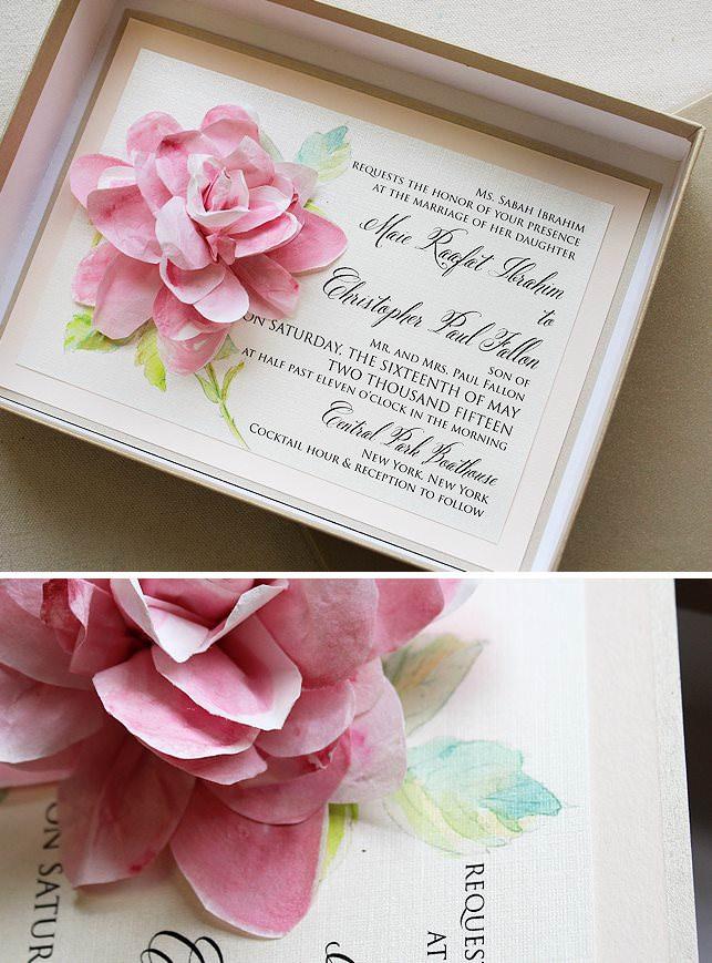 Sculpted Bloom Wedding Invitation