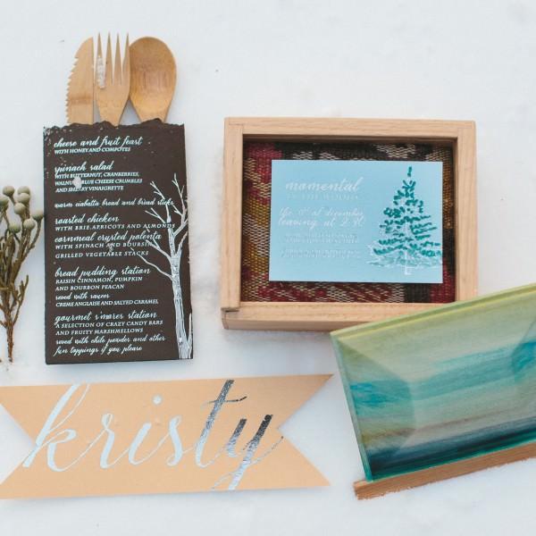 Evergreen-Silver-Foil-Wedding-Invitation