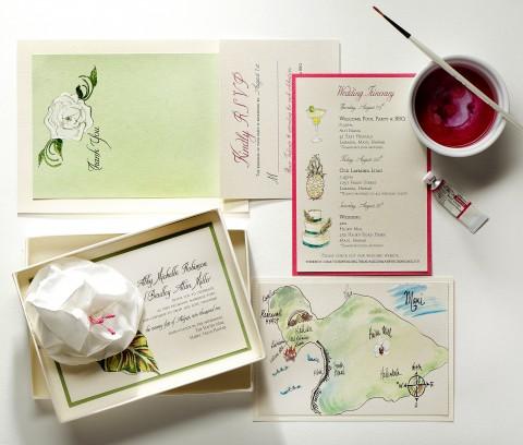 paper-flower-wedding-invitation-tropical