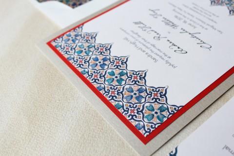 moroccan-tile-watercolor-wedding-invitation