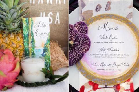 Hawaii Destination Wedding Stationery
