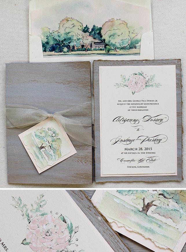 Rustic Elegance Wedding Invitations