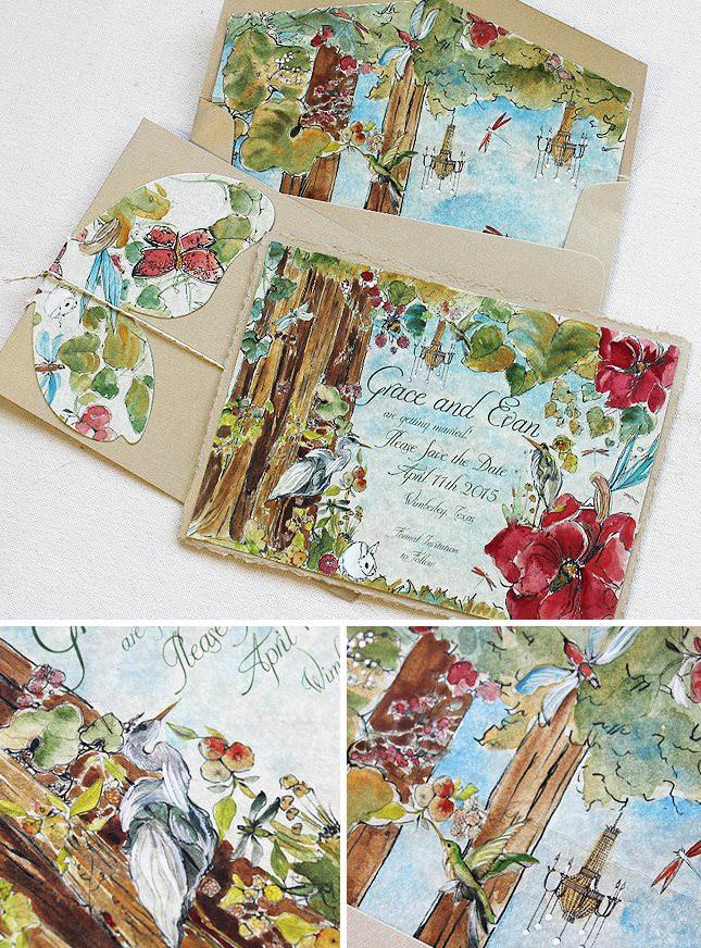 Enchanted Garden Wedding Invitations