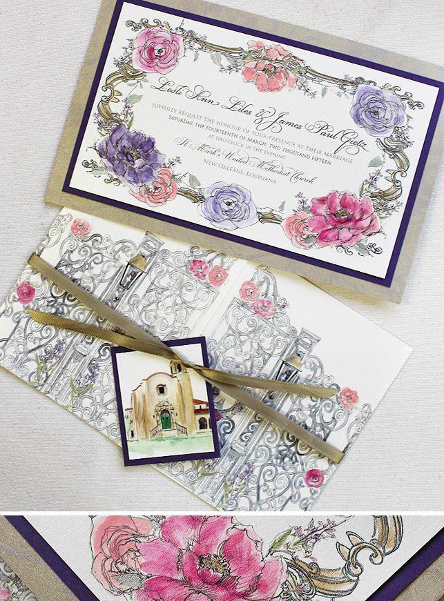 Gatefold Wedding Invitation