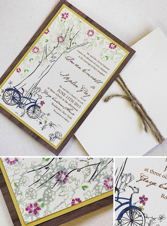 Vintage Lacy Tree Wedding Invitations