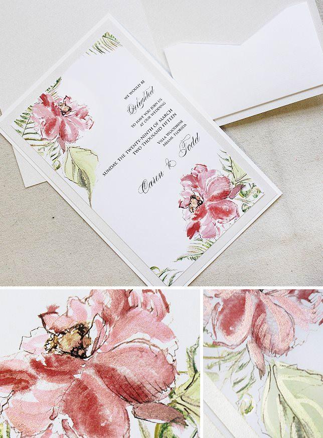 Peony Wedding Invitations