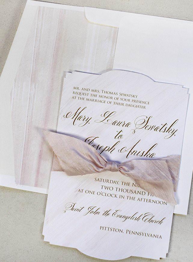 Modern Watercolor Wedding Invitations