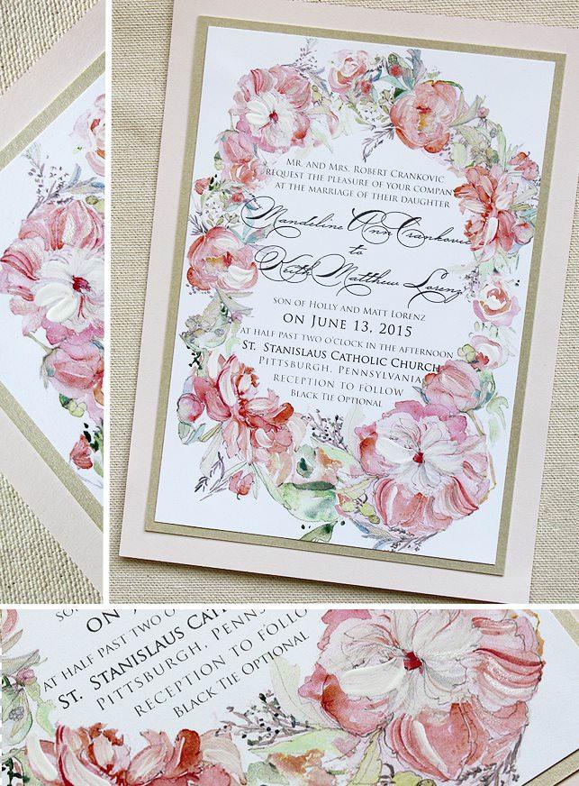 Floral Frame Wedding Invitations