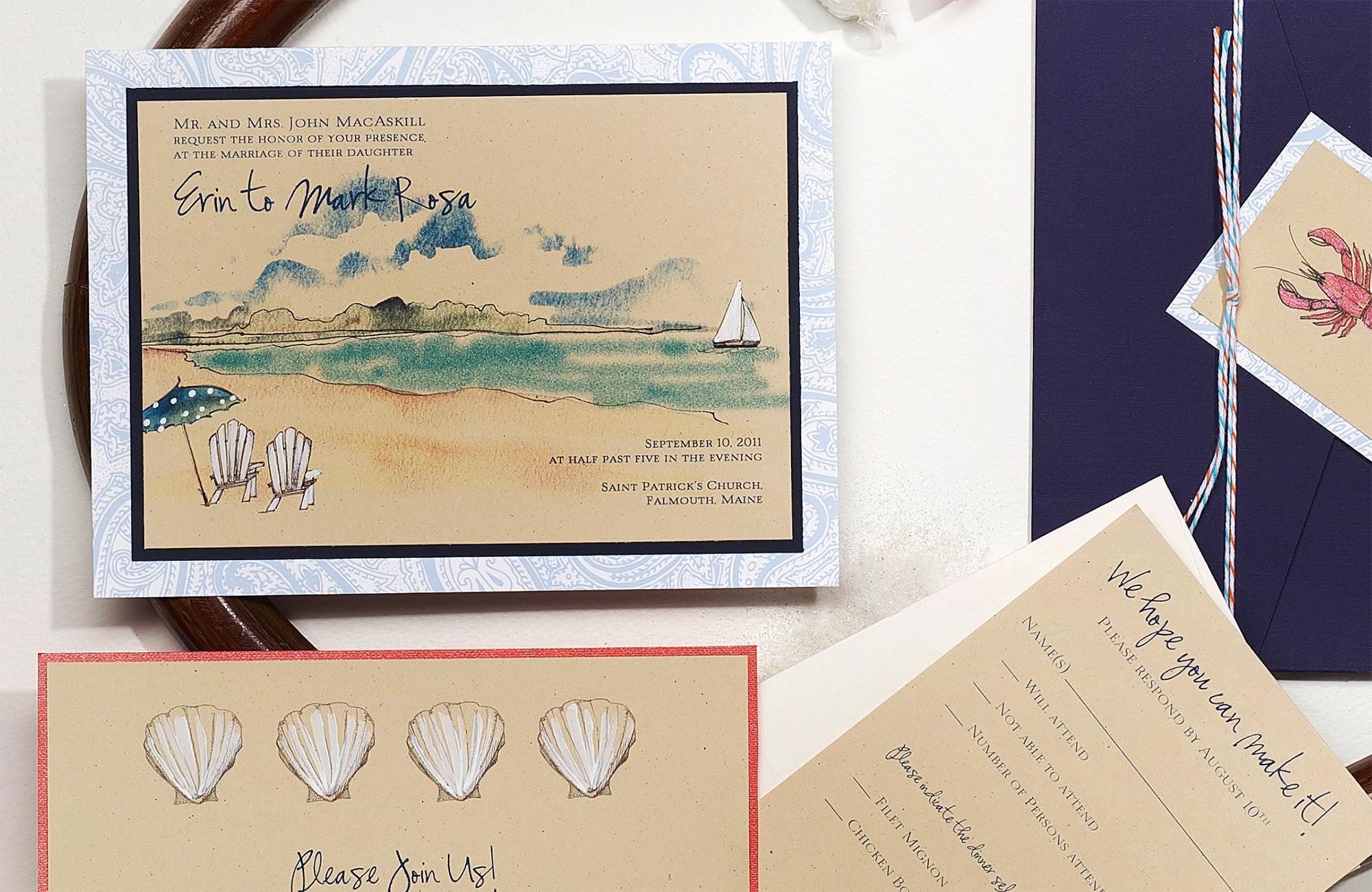 Clic Ocean Inspired Wedding Invitations Momental
