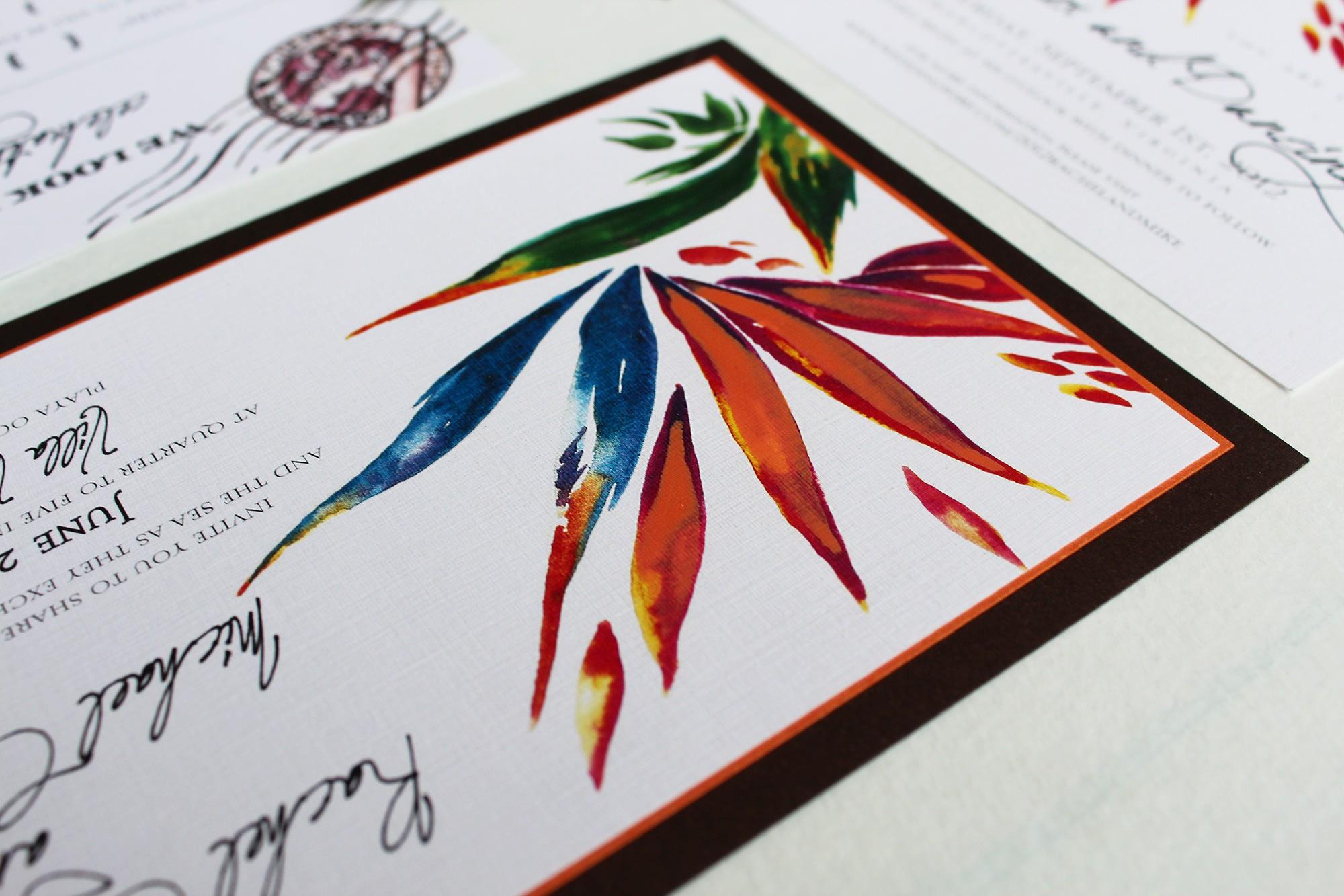 bird of paradise wedding invitations | Wedding