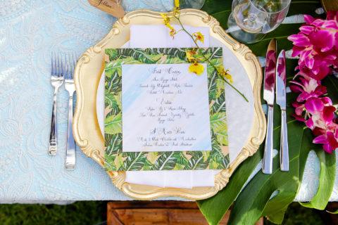 Tropical Custom Wedding Menu